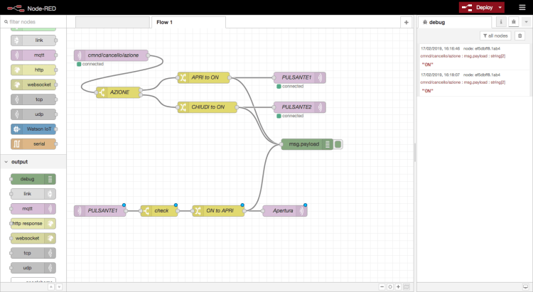 Node-RED - Devices flow> home automation - first flow completed