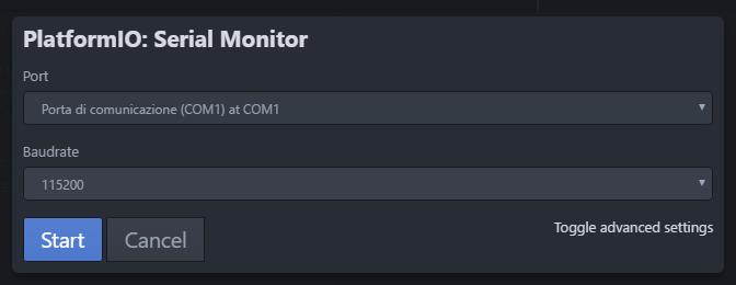 platformIO - Serial monitor