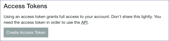 Pushbullet Access Token