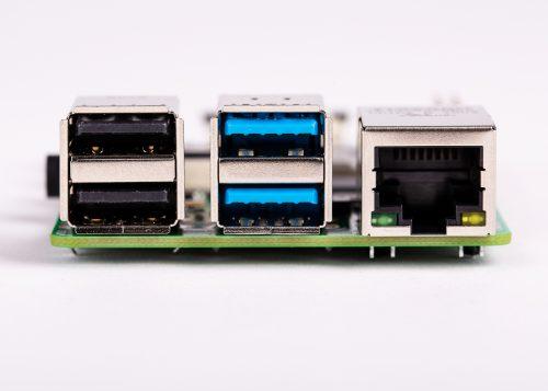 Raspberry Pi 4 B - USB und Anschlüsse