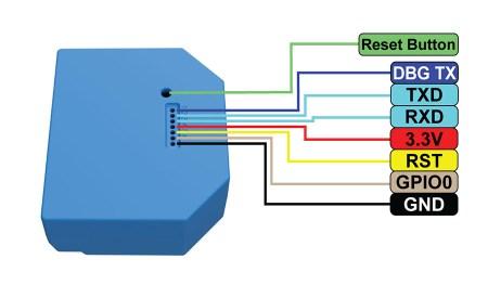 Shelly 1L - connessioni per riprogrammazione