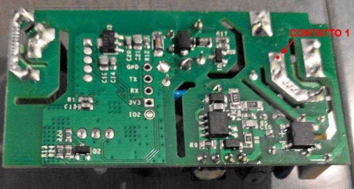 Sonoff Basic RF R2 POWER V1.0 - Contatto N - nuova posizione