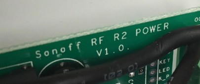 Sonoff Basic - RF R2 POWER V1.0 - Nome dicitura
