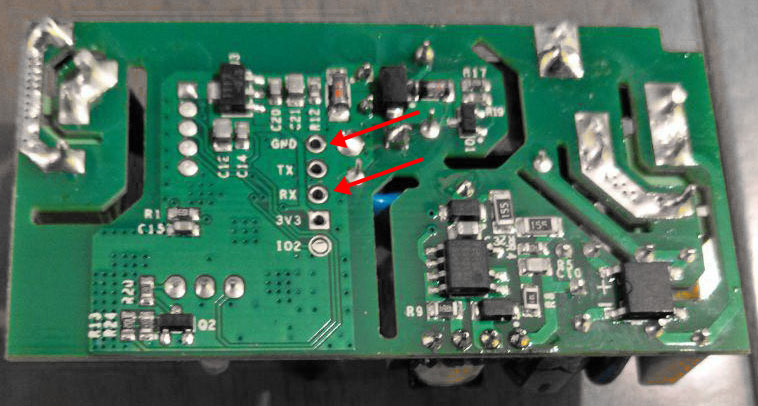 Sonoff-Basic-RF-R2-POWER-V1.0-Retro - RX and GRN contacts