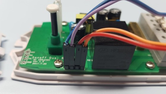 Sonoff Dual - board contact details