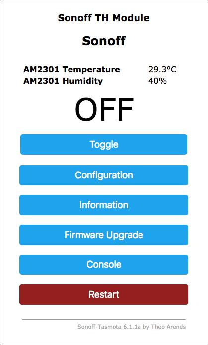 Sonoff-Tasmota-TH-16 TH-10 Temperatura e Umidità - Um RES0