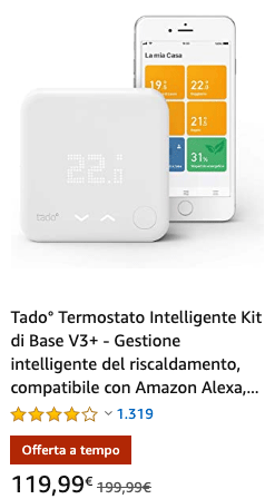 Tado° Termostato Intelligente Kit di Base V3+ - Offeta a tempo 20200212