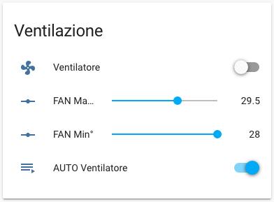 Ventilatore auto ON