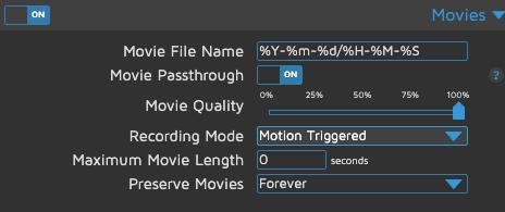 motionEye - Movies