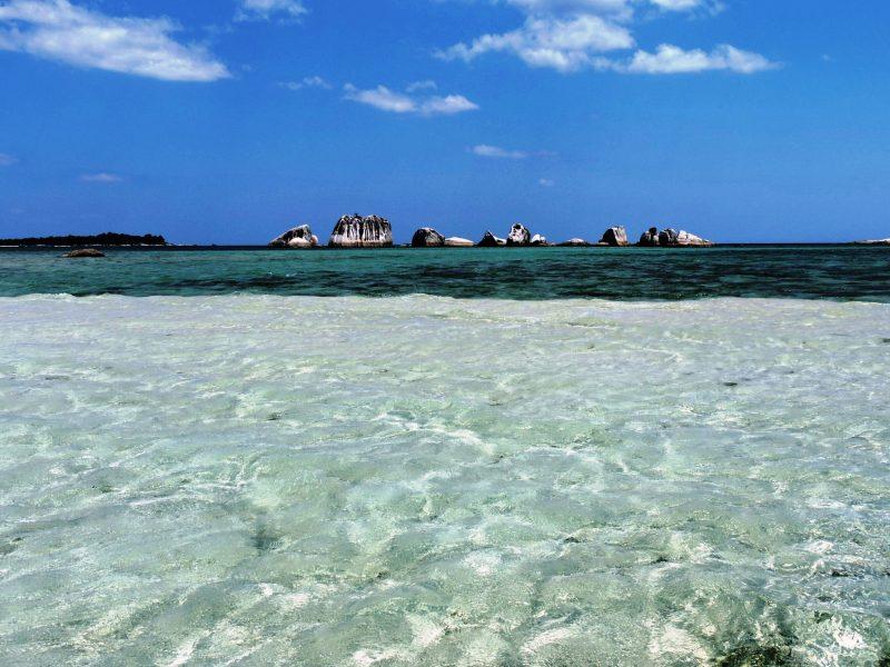 Sumatra isola di Belitung il mare