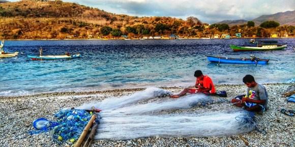 Alor pescatori e rete a kepa