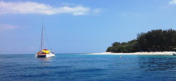 i miei viaggi : Gili una barca ancorata