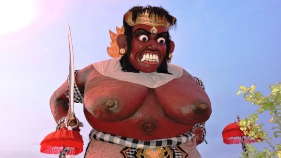 Bali un ogoh ogoh in esposizione