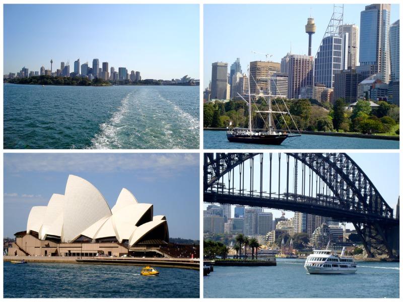 Australia tra città e natura: Sydney baie del nord Sydney dall'acqua