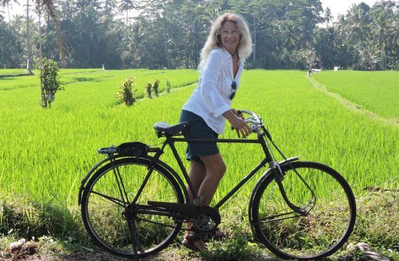 in bici a Bali