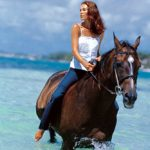 horseback on beach, gili islands