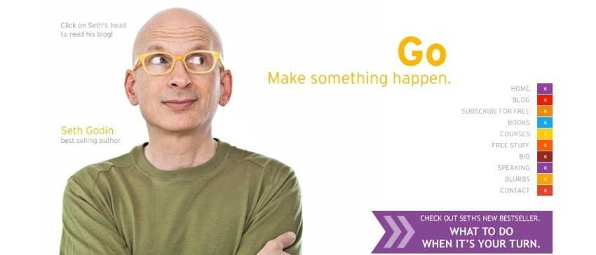 referensi website untuk belajar digital marketing SETH GODIN