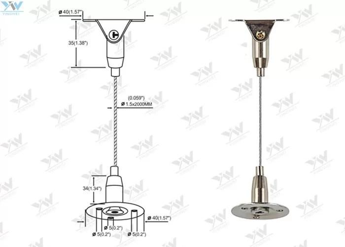 Kuningan Tinggi Adjustable Suspended Wire Lighting Kit