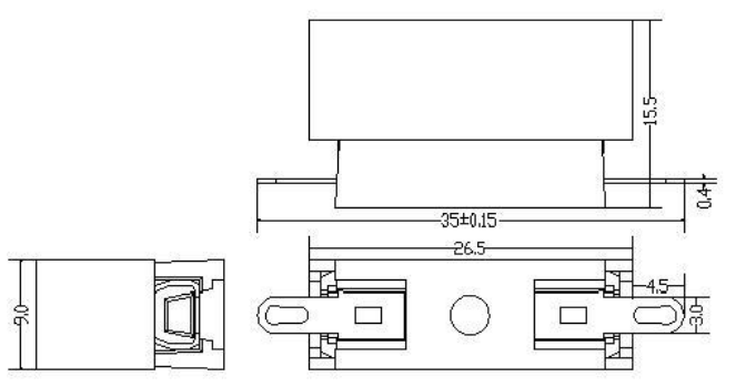 Elektronik Tegangan Rendah Fuse Holder Flame Retardant