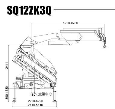 XCMG 12 Ton Articulated Boom Crane, Lorry-Mounted Crane