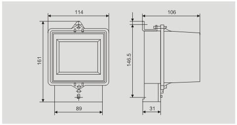 Induksi Aktif Tipe Wattmeter / Fase Tunggal Dua Wire