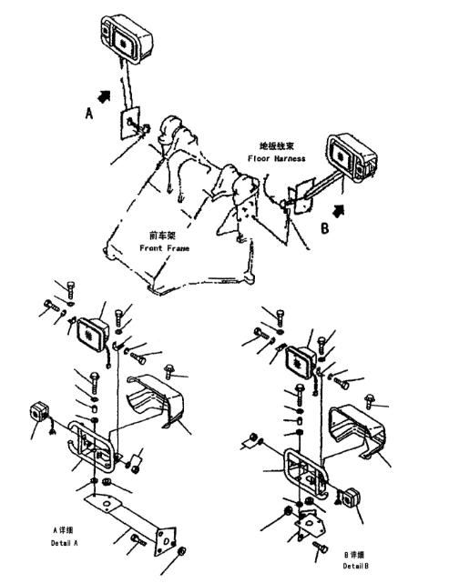 41G-06-13201 Turn Signal Lamp Assy Untuk Komatsu WA320