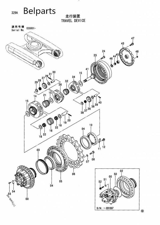 Hitachi ZX330 ZX330-1 Travel Motor Assy 9190296 9213431
