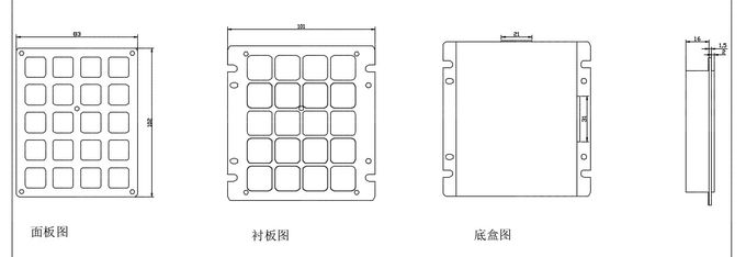 Matriks Tipe 4x5 Keypad Tahan Air, 20 Tombol Keyboard