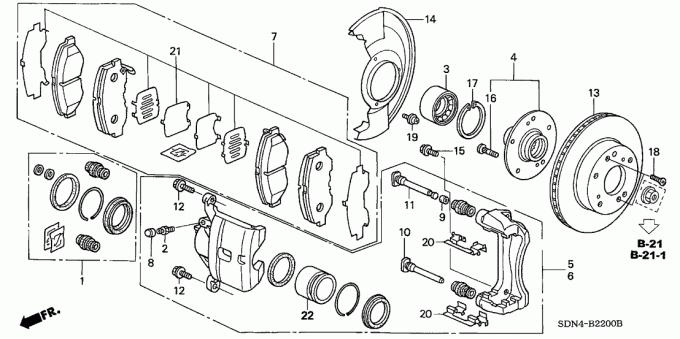 CM4 CM5 CM6 Honda Bantalan Roda Depan 44300 SDA A52 Untuk