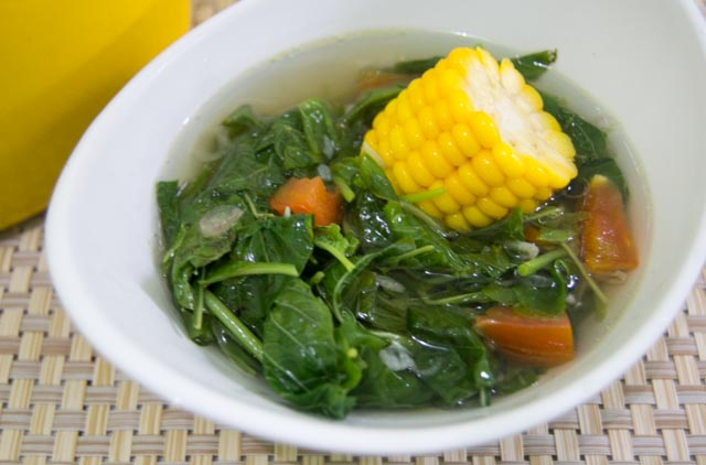 Spinach and Sweet Corn Soup
