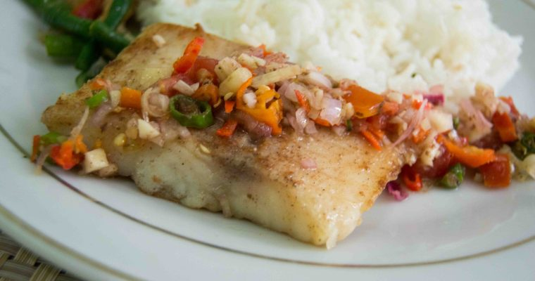 Pan Seared Dory with Balinese Sambal Matah