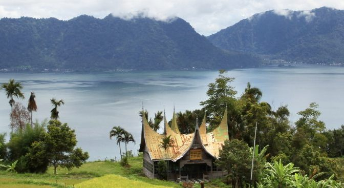 View of Lake Maninjau in Sumatra Pledge of the Students of Indonesia