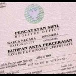Indonesian Translation Service Divorce Certificate Akta Perceraian