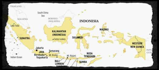 Indonesia islands map
