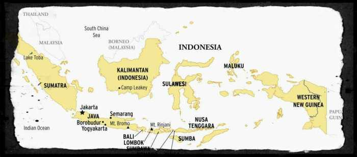 Indonesia islands map
