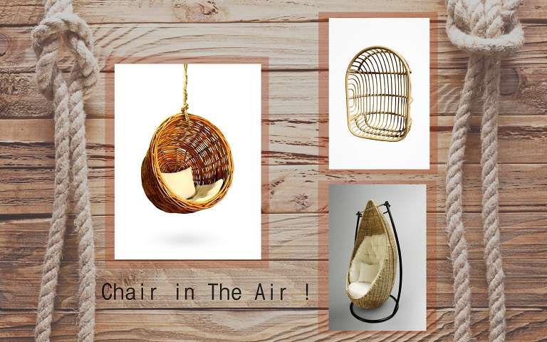 Chair in The Air with Rattan Hanging Chair