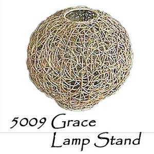 Grace Rattan Lamp Stand
