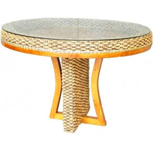 Sunshine Wicker Round Dining Table