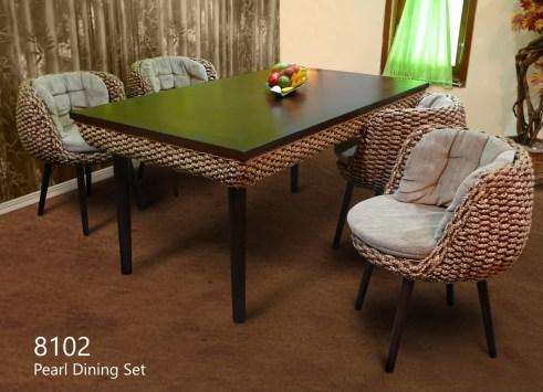 Pearl Wicker Dining Set
