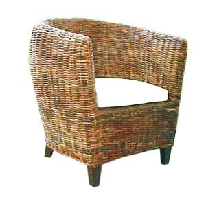 Gary Croco Rattan Arm Chair