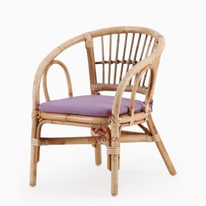 Jimmy Rattan Kids Chair In Natural