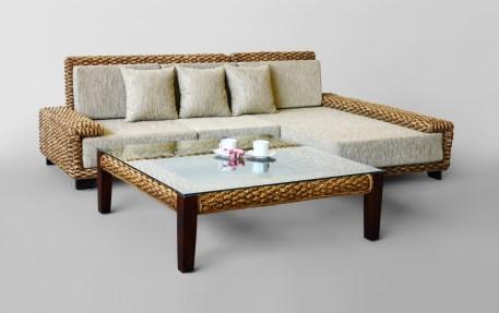 Laura Wicker Sofa Set
