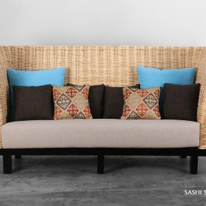 Sashi Rattan Sofa Three Seater