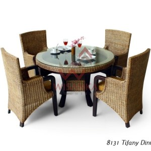 Tiffany Rattan Dinning Set