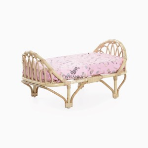 Mona Rattan Doll Bed