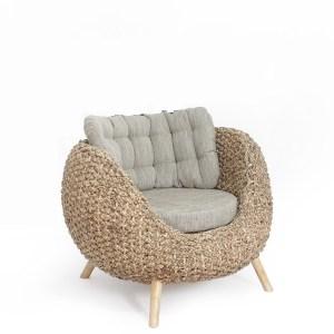 Pearl Wicker arm chair