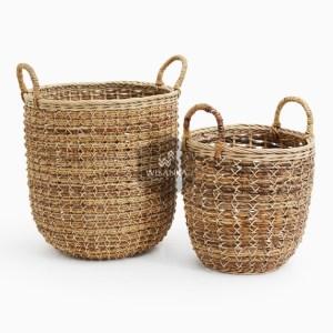 Verina Rattan Round Basket