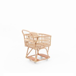 Vanessa Rattan Doll Cart