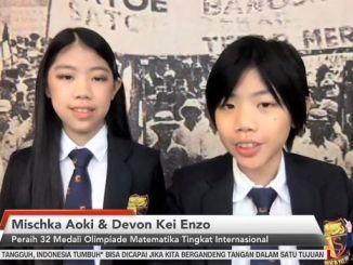 Pandemi Covid Tak Halangi Devon Kei dan Mischka Aoki Ukir Prestasi di Olimpiade Matematika