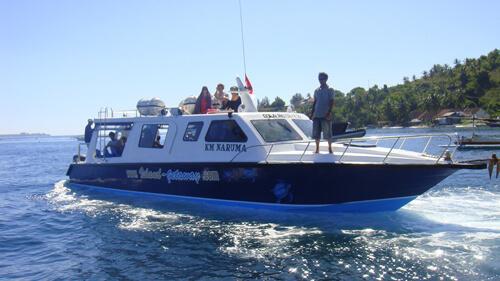 Veerboot van Bali naar Lombok of de Gili Eilanden, Indonesië